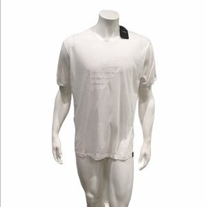 Armani Jeans Mens White Graphic T Shirt